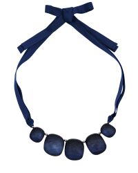 Jaeger | Blue Pebble Ribbon Necklace | Lyst