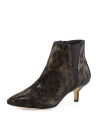 Donald J Pliner | Black Animal-Print Leather Boots  | Lyst