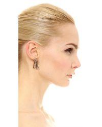 Eddie Borgo | Pink Fringe Earrings - Rose Gold | Lyst