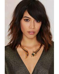 Nasty Gal - Metallic Such A Fox Collar Necklace - Lyst