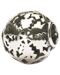 Trollbeads | Metallic Silver Winter Snow Bead | Lyst