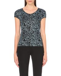 Armani | Gray Animal-motif Jersey Top | Lyst