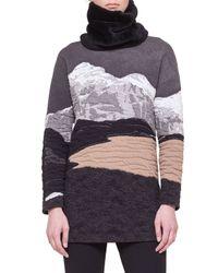 Akris Punto - Gray Swiss Alps Jacquard Sweater - Lyst