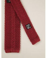 Ermenegildo Zegna | Red Knitted Straight Edge Tie for Men | Lyst