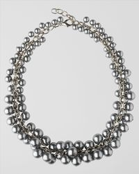 Jaeger | Metallic Pearl Cluster Collar Necklace | Lyst