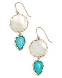 Lana Jewelry | Metallic 'viva' Drop Earrings - Mother Of Pearl/ Yellow Gold | Lyst