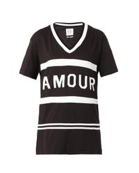Zoe Karssen - Black Amourprint Tshirt - Lyst