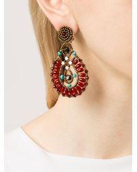 Ziio - Multicolor Beaded Drop Earrings - Lyst
