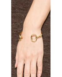 Aurelie Bidermann - Metallic Rivoli Bracelet - Gold - Lyst