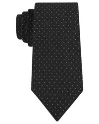 Calvin Klein - Black Schoolboy Dot Slim Tie for Men - Lyst