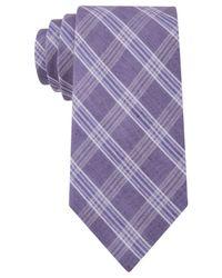 Calvin Klein | Purple Horizon Windowpane Slim Tie for Men | Lyst