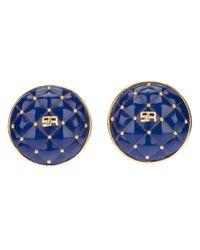 Sonia Rykiel - Blue Clip On Earrings - Lyst