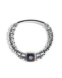 David Yurman | Blue Exotic Stone Wide Id Bracelet with Pietersite for Men | Lyst
