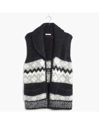 Madewell | Black Handknit Fair Isle Sweater-vest | Lyst