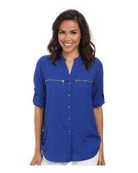 Calvin Klein | Blue Zipper Roll Poly Cdc Sleeve | Lyst
