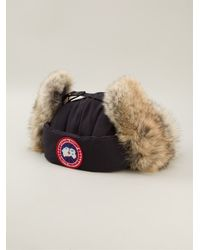 Canada Goose - Natural Coyote Fur Trim Aviator Hat - Lyst