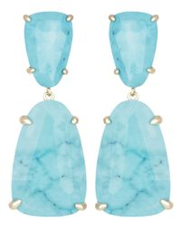 Kendra Scott | Blue Katie Earrings, Turquoise | Lyst