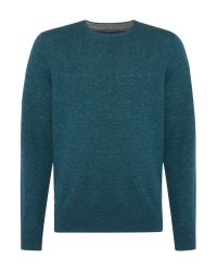 Howick | Blue Arlington Crew Neck 100% Lambswool Jumper for Men | Lyst
