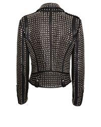 Barbara Bui - Black All Over Studded Moto Jacket - Lyst