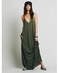 Free People - Green Fp Beach Womens Bright Lights Dress - Lyst