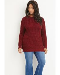 Forever 21 - Purple Plus Size Chunky Knit Sweater - Lyst