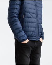 Zara | Blue Lightweight Padded Jacket for Men | Lyst