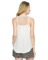 Ella Moss | Natural Stella Back Yoke Tank | Lyst