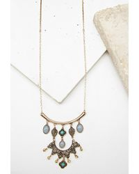 Forever 21 | Multicolor Faux Stone Longline Necklace | Lyst