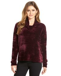 Vince Camuto | Purple Chenille Turtleneck Sweater | Lyst