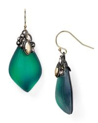 Alexis Bittar - Green Crystal Lace Capped Lucite Earrings - Lyst