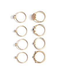 Forever 21 - Metallic Faux Gemstone Ring Set - Lyst