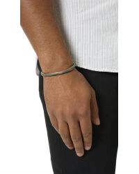 Cause and Effect - Gray Painted Copper Cuff for Men - Lyst