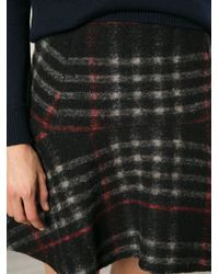 Vanessa Bruno Athé - Black Checked Skirt - Lyst