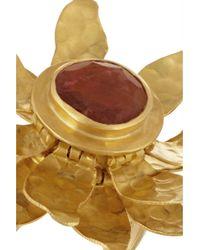 Pippa Small - Metallic 18karat Gold Tourmaline Flower Ring - Lyst