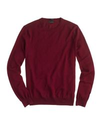 J.Crew - Red Slim Merino Wool Crewneck Sweater for Men - Lyst