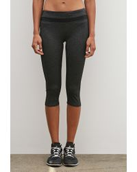 Forever 21 - Gray Active Capri Leggings You've Been Added To The Waitlist - Lyst