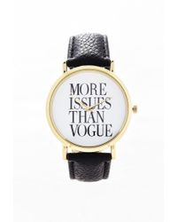 Forever 21 - Metallic Faux Leather Statement Watch - Lyst