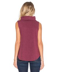 Bobi | Purple Cuddly Knit Cowl Neck Tank Top | Lyst