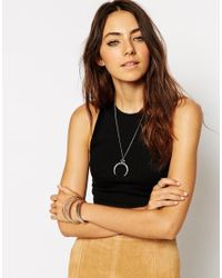 ASOS | Green Eye Horn Necklace | Lyst