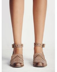 Free People | Brown Fp Collection Womens Castoni Studded Loafer | Lyst