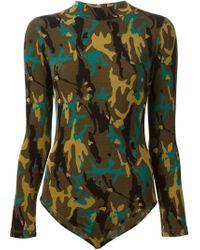 Jean Paul Gaultier | Brown 'Junior Gaultier' Camo Print Body | Lyst