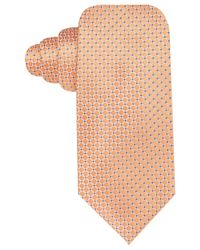 Vince Camuto - Orange Porta Dot Grid Slim Tie - Lyst