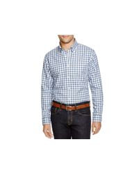 Brooks Brothers - Blue Heathered Gingham Regular Fit Button Down Shirt for Men - Lyst