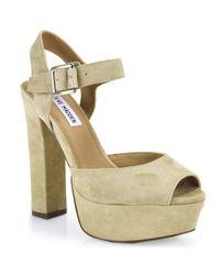 Steve Madden - Gray Platform Sandal - Lyst