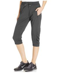 Calvin Klein | Gray Performance Cropped Active Pants | Lyst