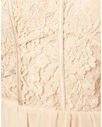 Oasis - Natural Lace Bodice Bandeau Dress - Lyst
