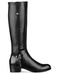 Guess - Black Tafn Riding Boots - Lyst