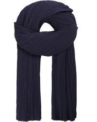 Pleats Please Issey Miyake | Blue Madame Short Pleated Scarf, Women's, Navy | Lyst
