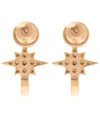 Kismet by Milka | Metallic 1champagne Diamond K Star Earrings | Lyst
