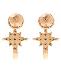 Kismet by Milka - Metallic 1champagne Diamond K Star Earrings - Lyst